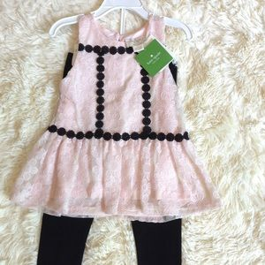NWT Kate Spade girl's outfit. Adorable. Size 3.